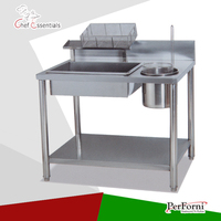 PKJG GW1000 Fast Food Equipment for Commercial Manual Breading Table