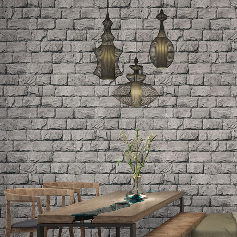 3D Brick Stone PVC Wall Paper Chinese Rustic Vintage Waterproof WallPaper Livingroom Backdrop WallCovering d d imperio d imperio flea market treasure paper only