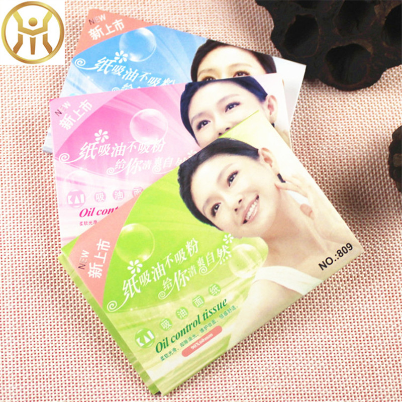 Amazing New Arrive 50 Sheets Pro Powerful Makeup Oil Absorbing Face Paper wholesale Free Shipping Women Skin Care N041