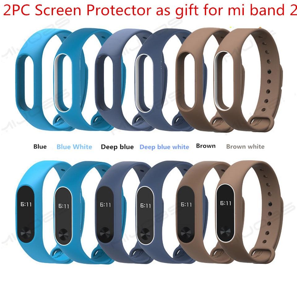 Sest Xiaomi Mi Band 2 rihm silikoon Mi Band 2 rihma käevõru asendamine käepael Smart Band Xiomi Xaomi ekraan kaitsja  t