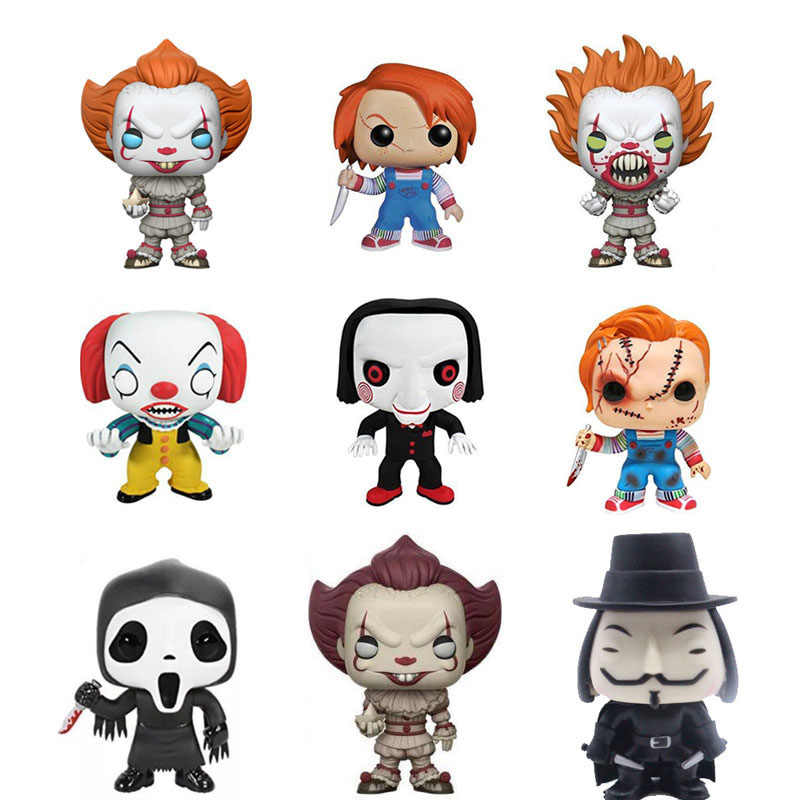 Funko pop Filme Chucky Stephen King é Palhaço palhaço Pennywise PVC Action Figure Toy Model Collection para crianças aniversário presente