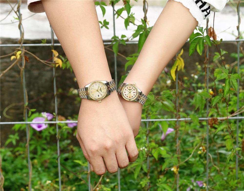 Chronos женские роскошные золотые часы браслет офисные с бриллиантами