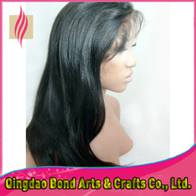 Hot Selling Virgin Brazilian Straight Front Lace Wigs/Glueless Full Lace Wigs Remy Human Hair for Black Girl
