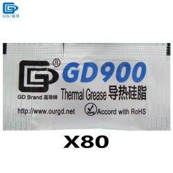 GD900 pâte thermique graisse Silicone dissipateur de chaleur composé haute Performance 80 pièces gris poids Net 0.5 gramme pour refroidisseur de processeur MB05