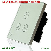 1 Pcs LED Touch Dimmer Switch 0 500W AC 110V 220V 230V CE ROHS UL