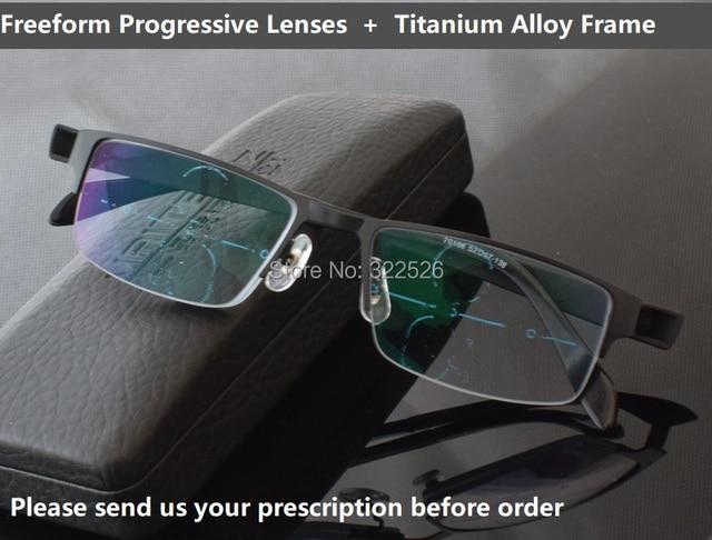 311bfd9a762 Smart zoom asymptotiquement multi-progressif focal bifocale lunettes de  presbyte  titane alliage cadre +
