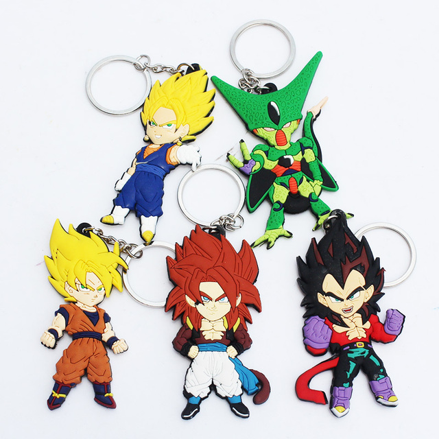Dragon Ball Z Goku Vegeta Vegetto Cell Figures Keychain