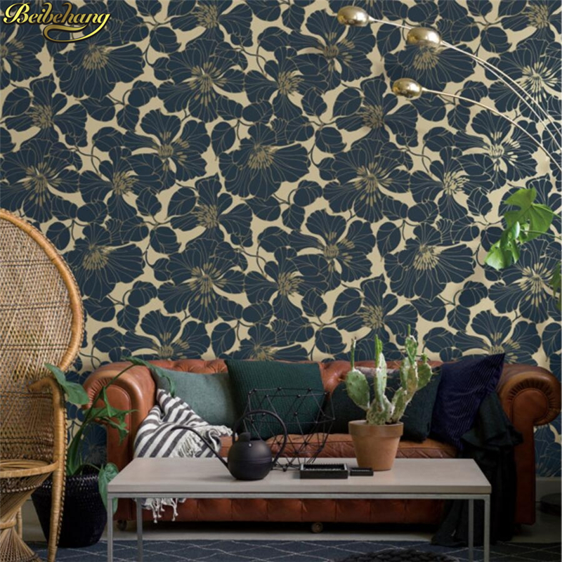 beibehang papel de parede para quarto Nordic leaves wallpaper for walls 3 d Luxury 3D Leaf Wallpaper for Walls Roll living room beibehang gold foil wallpaper solid color 3d earthhill gold wallpaper roll hotel ktv wallpaper for walls 3 d papel de parede