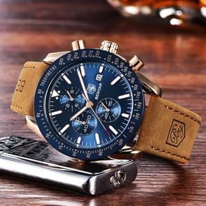 Image 4 - Benyar homens relógios marca de luxo pulseira silicone à prova dwaterproof água esporte quartzo cronógrafo militar relógio masculino relogio masculino