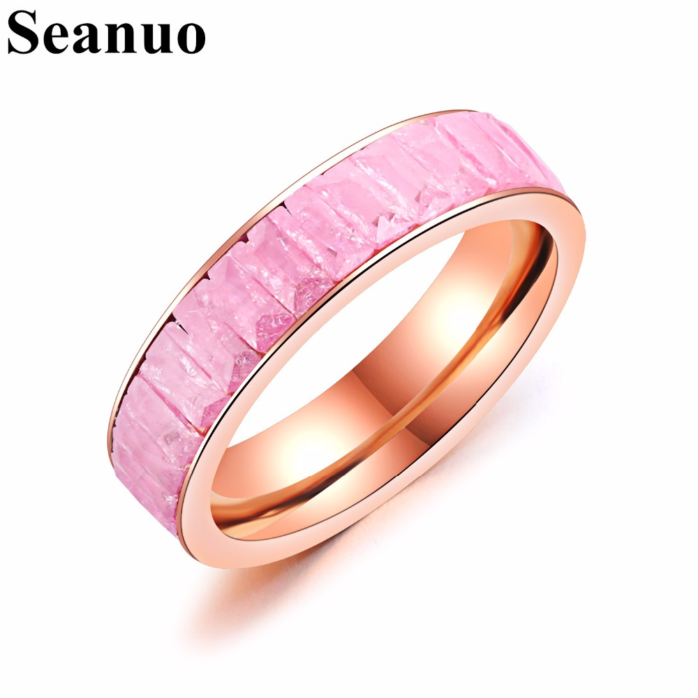 Seanuo Luxury yellow gold Great Wall 316L stainless steel wedding ...