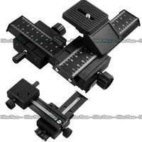 PRO 4 Way Macro Focusing Rail Slider For Caon Nikon Sony D SLR Close Up Shooting