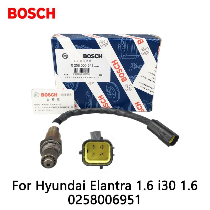 1pcs/lot Bosch Exhaust Gas Oxygen Sensor For Hyundai Elantra 1.6 i30 1.6 1.6 0258006951