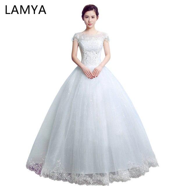 LAMYA Cap Sleeve Wedding Dress 2018 Princess Elegant Bride Gowns Cheap Ball  Gown Wed Dresses Plus Size Vestido De Novia aceb043bc180