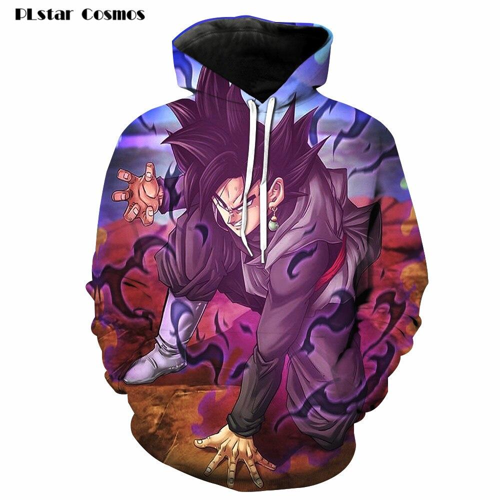 2018 Fashion Men/Women Long Sleeve 3D Print Hoodies Anime Angry Dragon Ball Z Kids Cute Hooded Pullovers Sweatshirts Harajuku