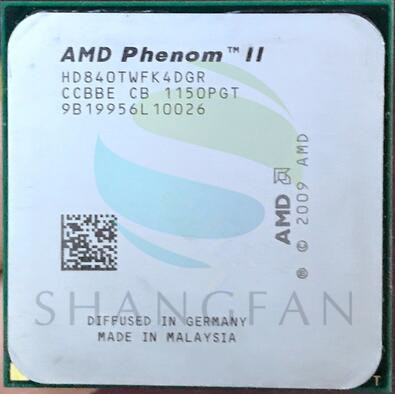 Free Shipping For  Phenom II X4 840T  Quad-Core DeskTop CPU  HD840TWFK4DGR Socket AM3