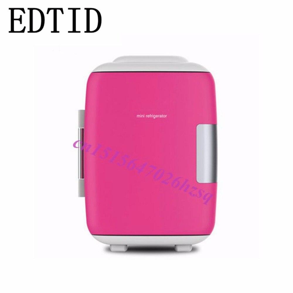EDTID 4L car refrigerator Mini portable home dormitory refrigerator cold-hot dual purpose refrigerator refrigeration box
