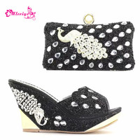 New Italian Shoes with Matching Bags 2018 Women Shoes and Bags To Match Set Italy Nigerian Women Wedding Shoes Pumps Women Shoes
