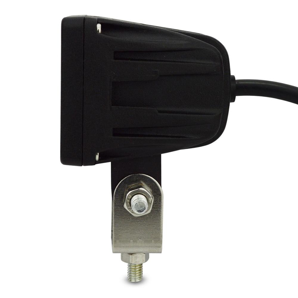 10W led munkalámpa Négyzetes spot árvíz 12V LED munkalámpa 10W - Autó világítás - Fénykép 3