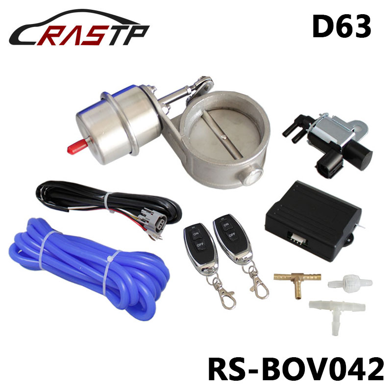RASTP-1 ensemble nouvelle voiture vide échappement vanne de découpe 2.5 ''63mm ouvert Style sans fil télécommande ensemble RS-BOV042