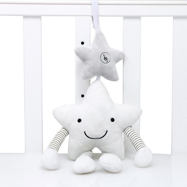 Nieuwe Baby Speelgoed Voor Kinderwagen Muziek Ster Wieg Opknoping Pasgeboren Mobiele Rammelaars Op Het Bed Baby Educatief Pluchen Speelgoed