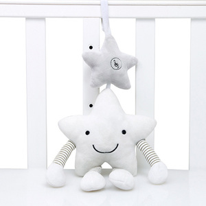 Image 1 - New Baby Toys For Stroller Music Star Crib Hanging Newborn Mobile Rattles On The Bed Babies Educational Plush Toys