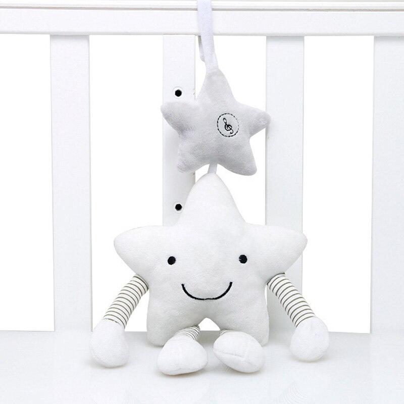 Novo bebê brinquedos para carrinho de criança música estrela berço pendurado recém-nascido móvel chocalhos na cama bebês brinquedos de pelúcia educativos