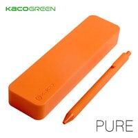 KACO 순수 소프트 실리콘 다기능 연필 케이스 캔디 컬러 학생 학교 및 Office 편지지 용품에 대 한