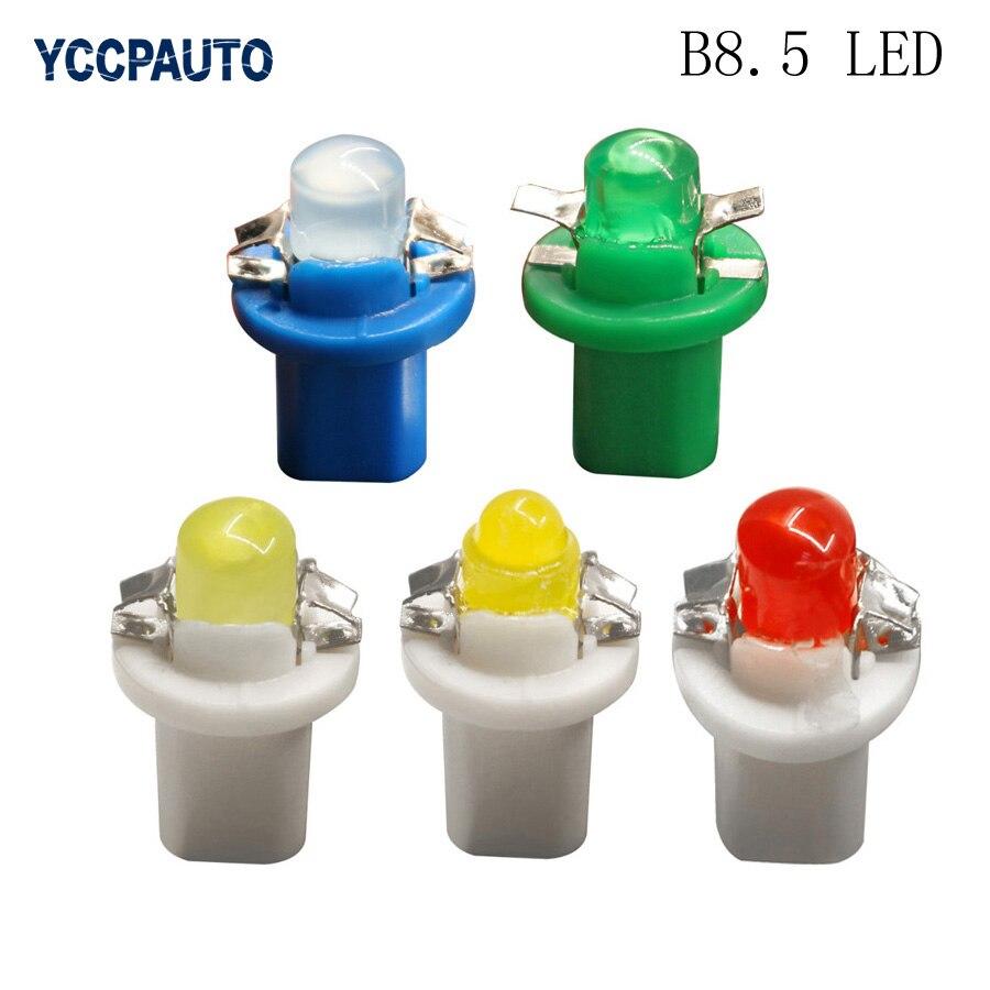 T5 B8.5D B8.5 Led car Instrument Dash Panel Light COB Inner Lamp Cluster Gauge Dashboard Indicator Bulbs 12V Signal Lights 50pcs