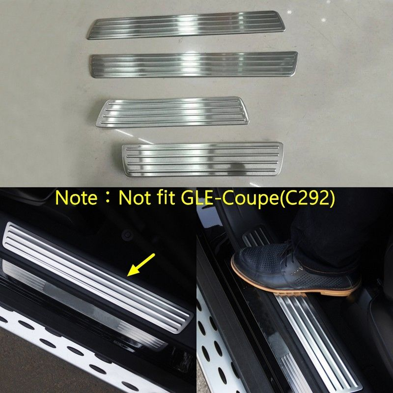 UltaPlay 4PCS Stainless Steel Car Door Sill Scuff Plate Cover Mouldings for Honda CR-V CRV 2017 2018 Car Accessories Styling