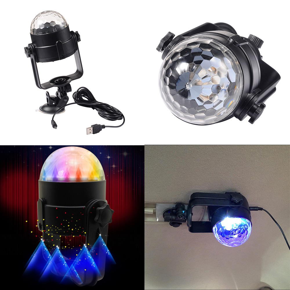 Auto Disco DJ Stage Lighting Car LED RGB Crystal Ball Lamp Bulb Light Effect Party remote control mini led rgb 3w crystal magic ball laser stage effect lighting lamp bulb for party disco club dj light show