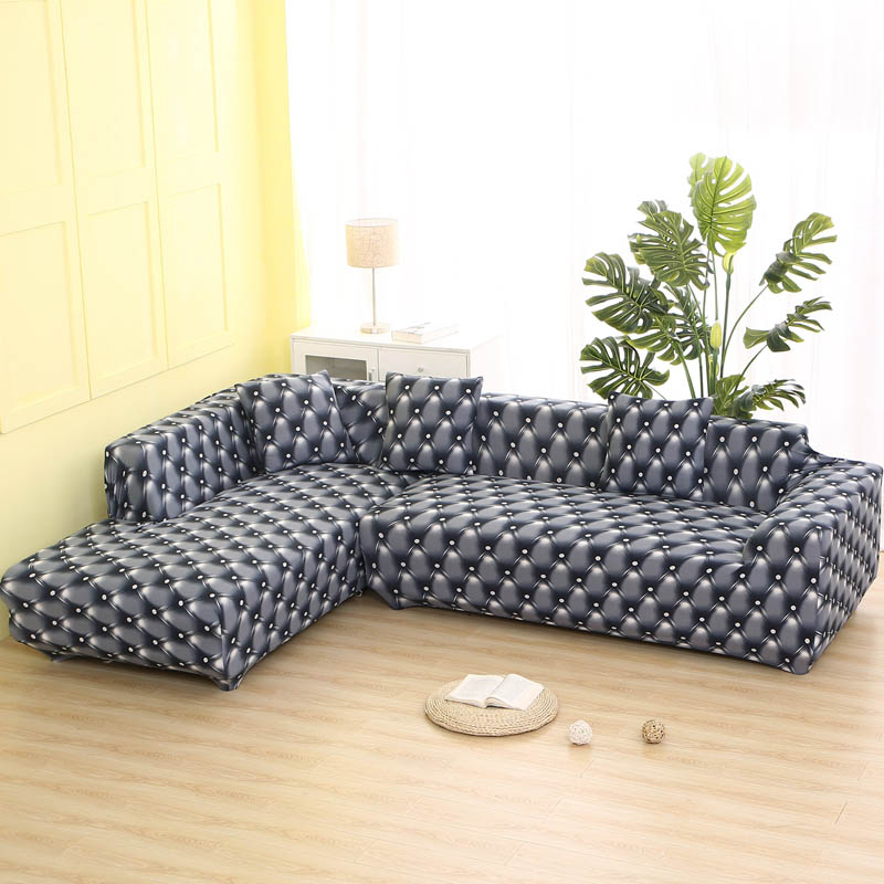 L Shaped Sofa Cover Spandex Slipcover Sofa Removable