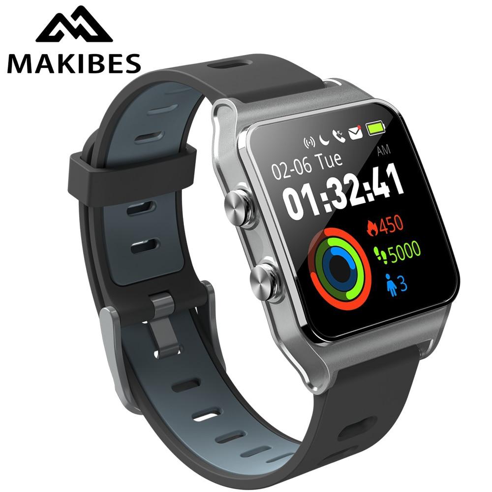 RU/ES in stock! Strava Makibes BR3 Men GPS Smart watches SmartBand IP68 Waterproof Fitness tracker for Xiaomi Phone MI8 IOS Mens Fitness Tracker Watch