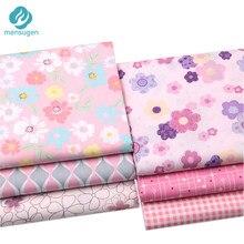 Fiore rosa Plaid Stampato 100% Cotone Metri di Tessuto per Vestiti del Pannello Esterno dei bambini Letto Copriletto di Stoffa Da Cucire Telas