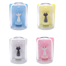 Practical Strong Suction Creative Cat Toothbrush Holder Storage Box Bathroom Kitchen Family Wall Stand Toiletries Toothpaste