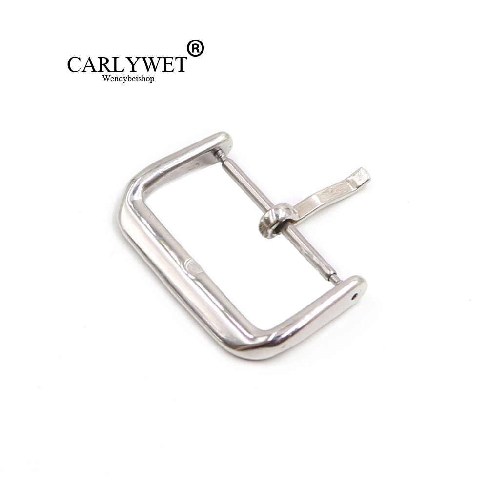 CARLYWET 14 16 18 20 22mm Replacement 2mm Tongue Stainless Steel Pin Buckle For Watchband Strap For Rolex Omega Tudor IWC JL Tag