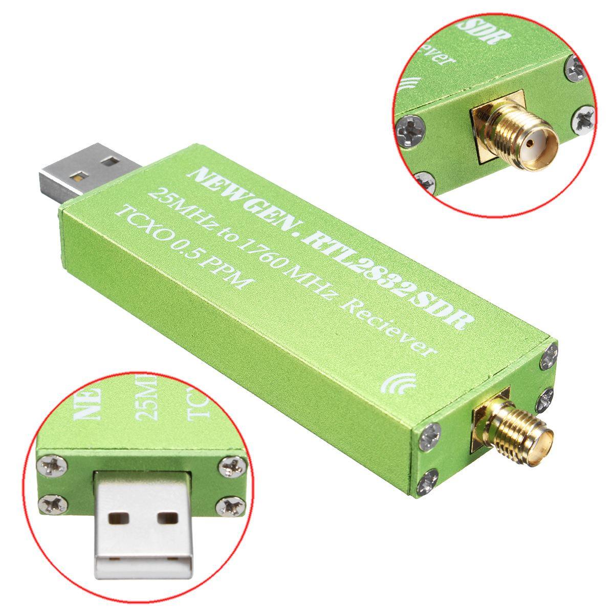 2018 New Generation 25MHZ to 1760MHZ RTL SDR Receiver Support AM/NFM/FM/DSB/USB/L RTL2382U Mini Wireless Current Receiver