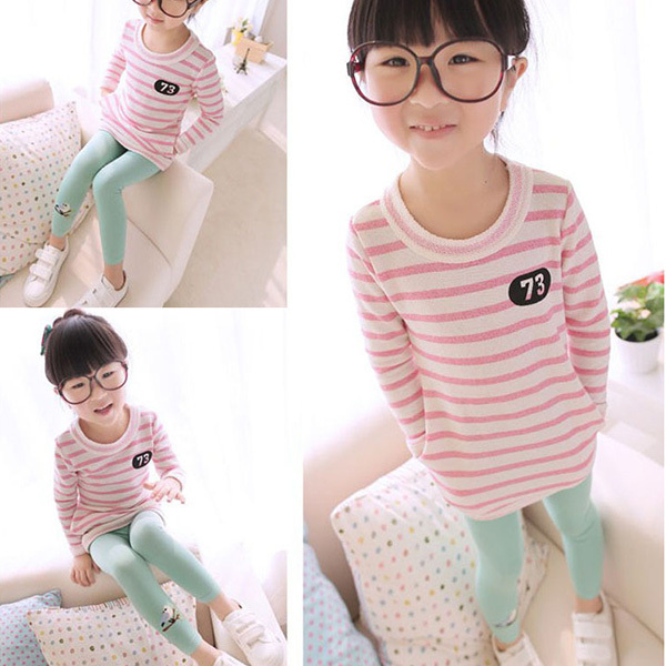 Baby Girl Stretch Leggings Pants Toddler Child Candy Color Trousers
