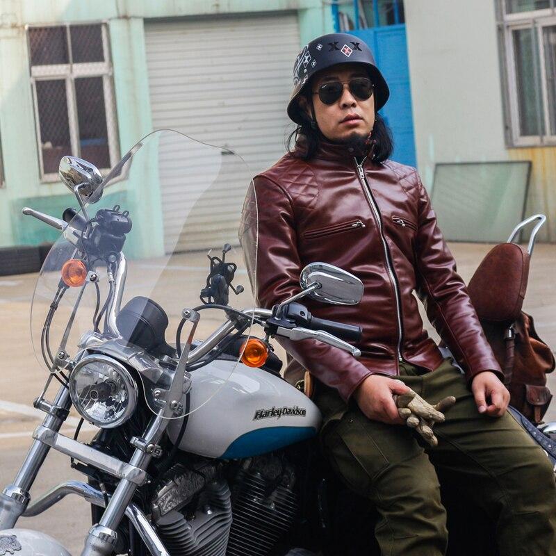 Il trasporto Libero, Inciso classico horseskin jacket. J100 sottile horse nascondi coat.100 % duro motor biker genuino giacche di pelle