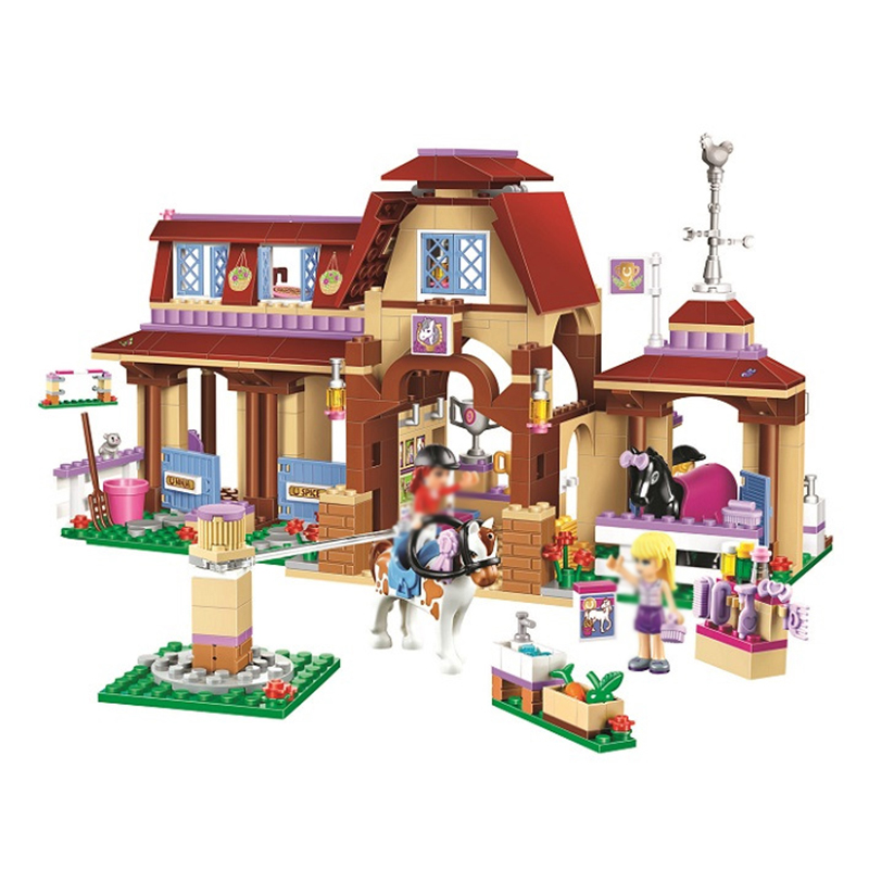 bela 10562 Girl Heartlake Riding Club Horse Stables Block Set Mia Stephanie Building Toy Compatible with Lego Friends 41126