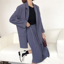 New Fat Sister Big Size Fall Dress Mm Thin Jacket Half-length Skirt Button Adjustment Black L XL XXL XXXL Suit Women Coat