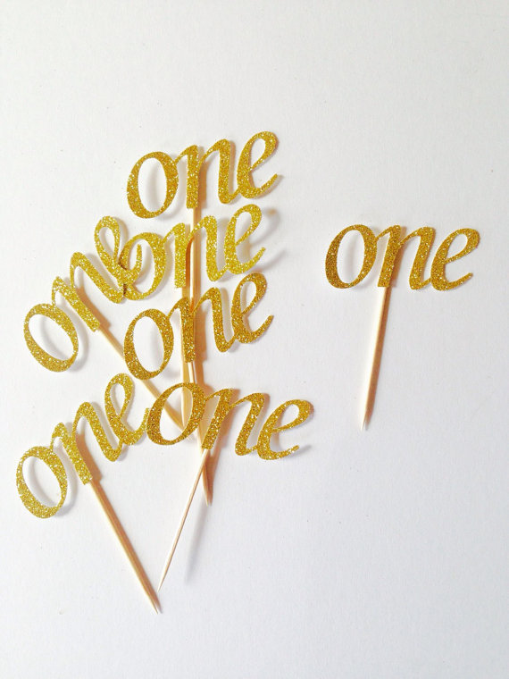 Online Gold Glitter One Number Cupcake Toppers Personalized Baby Bridal Shower Birthdayocearn Wedding Cake Topper Decor Aliexpress Mobile