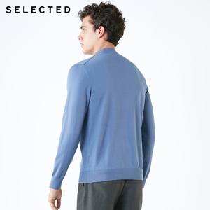 Image 4 - SELECTED Mens Pure Color Pullovers Turtleneck Base Knitted Autumn Sweater Clothes S