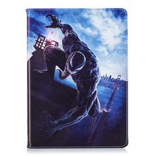 Купить с кэшбэком Venom cartoon shell for Apple ipad mini 1 2 3 automatic sleep wake up flip support PU leather case cover protective cover