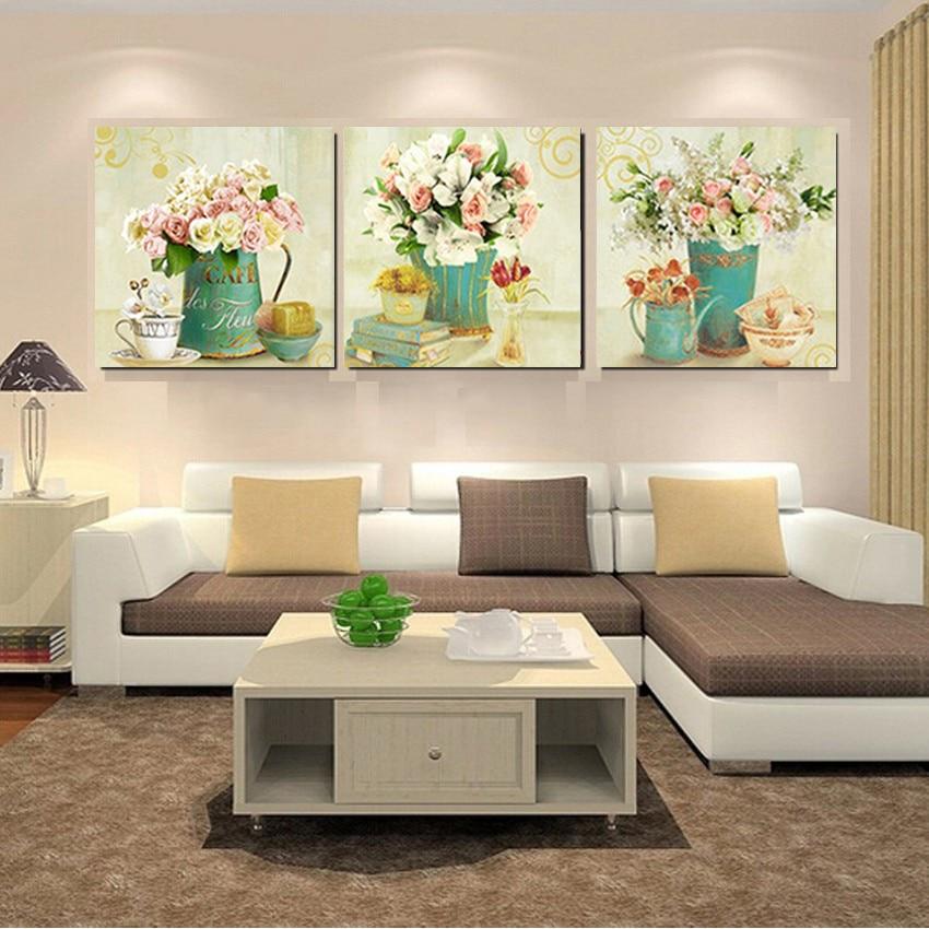Home Decor Canvas Prints Vintage Flower Wall Art