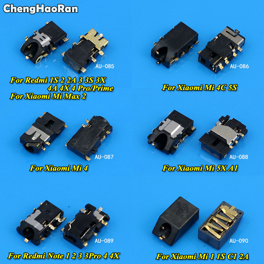 ChengHaoRan 1Piece Earphone Headphone Audio Jack For Xiaomi Redmi 1S 2 2A 3 3S 3X Pro 4 4A Redmi Note 1 2 3 4 4X/Mi 4 4C 5S 5X