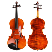 High end Hand craft Violin 20 Years Naturally Dried Stripes Maple Professional Spirit Varnish Violino with Bow and Strings case