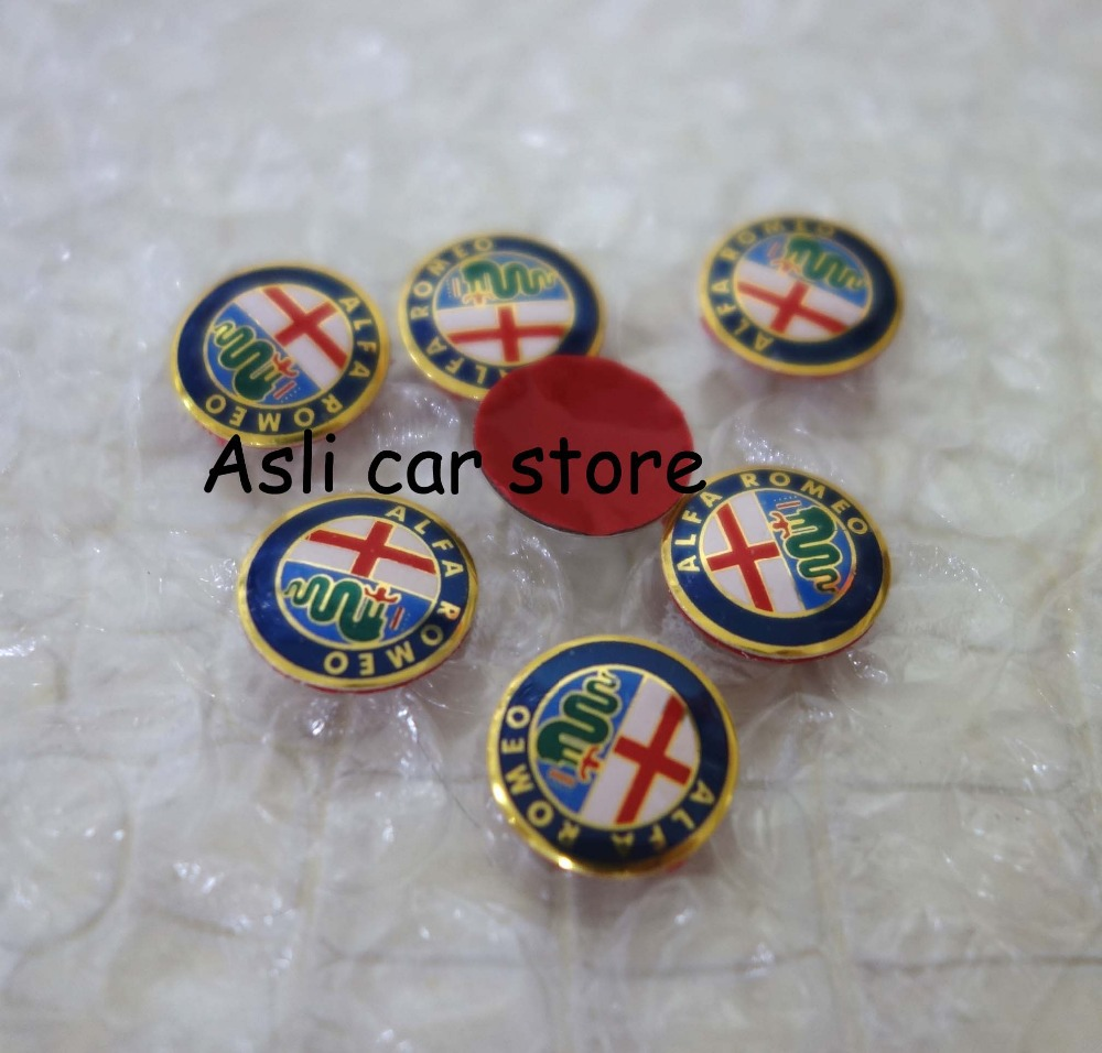 4pcs 15mm Alfa Romeo Car Logo Key Fob Emblem Badge Sticker For Mito 147 156 159 166 Giulietta Spider Gt Brera Free Shipping In Stickers From Automobiles