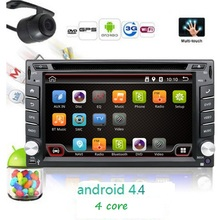 2 Din Pure Android 4.4 Car DVD GPS Navigation Stereo Radio GPS WiFi 3G MP3 CAPACITIVE Multi-Touch Screen+TV+iPod+3D MAP+Camera