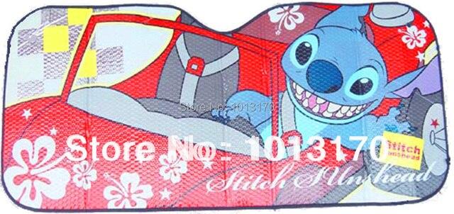 car accessories Cartoon stitch front window sunshade  Foils Windshield Visor Cover UV Protect Car window Film sun shade  ZD-3