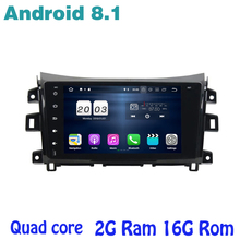 for Nissan Navara NP300 2014-2017 Android 8.1 Quad core Car Stereo radio gps with 2g ram wifi 4G usb bluetooth mirror link